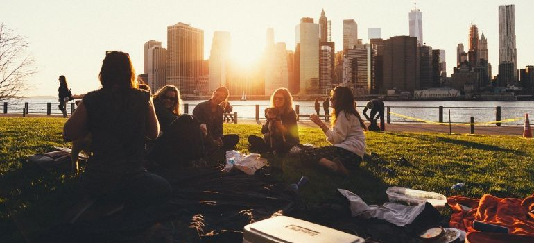 Friends on a picnic