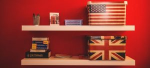 Boxes on shelves - a good way to organize your new garage.