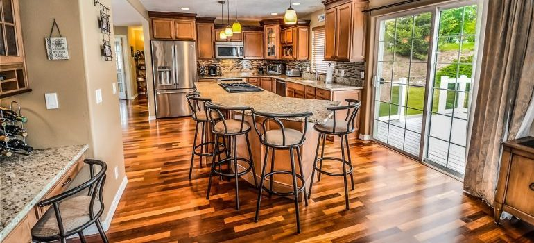 Preserve parquet while move kitchen appliances