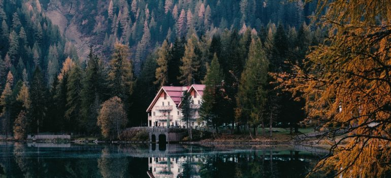 House on a lake.