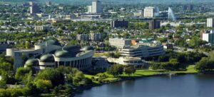 an aerial view of the city of Ottawa